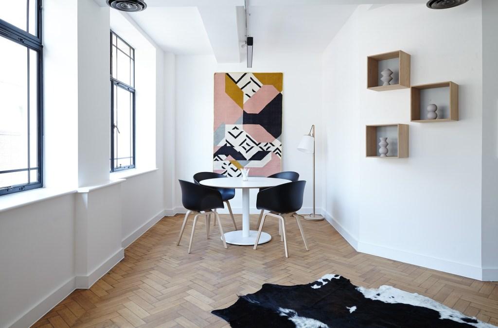 circular dining table in condo apartment