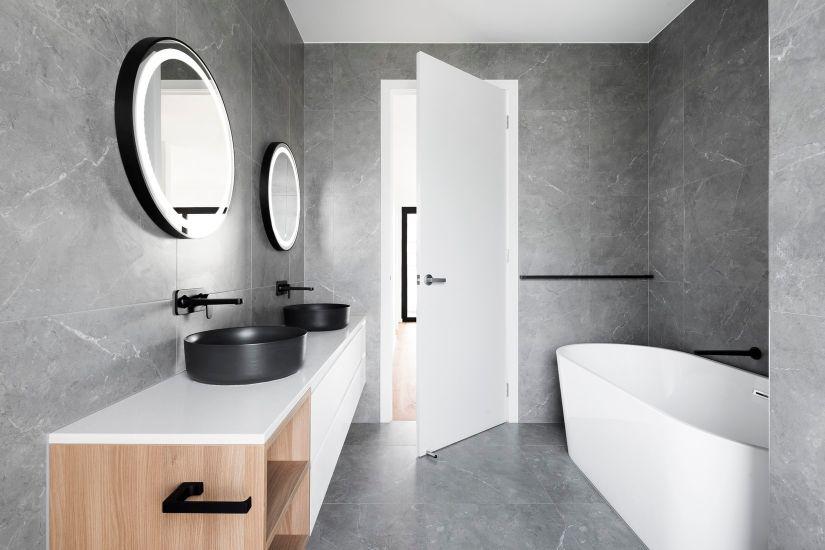 plancher chauffant de la salle de bain