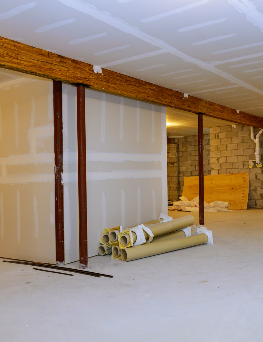 sous-sol en rénovation