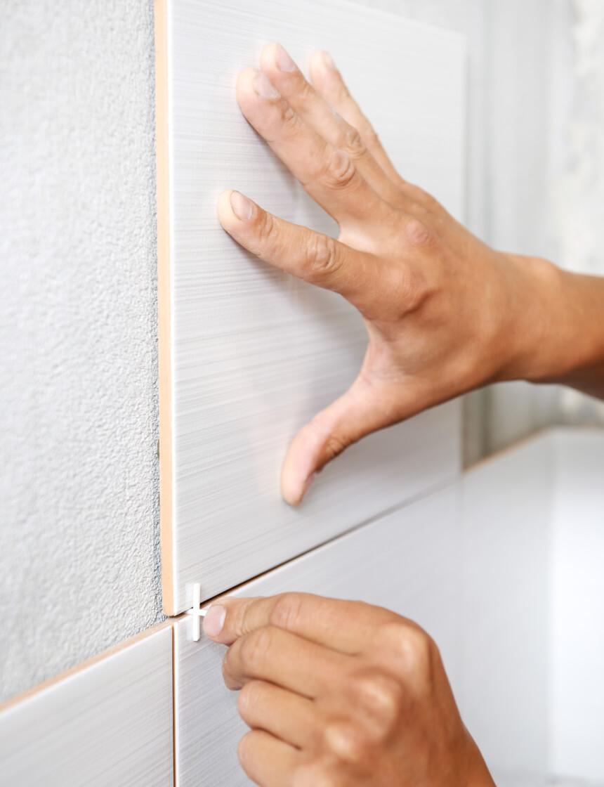 install bathroom tiles on shower wall