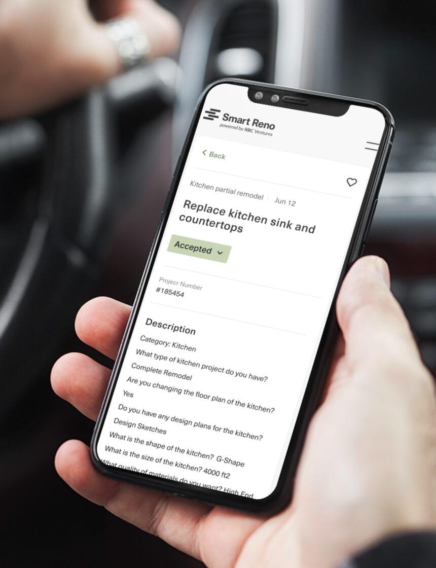 Smart Reno app screen